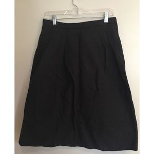 Printed a-line tea-length skirt
